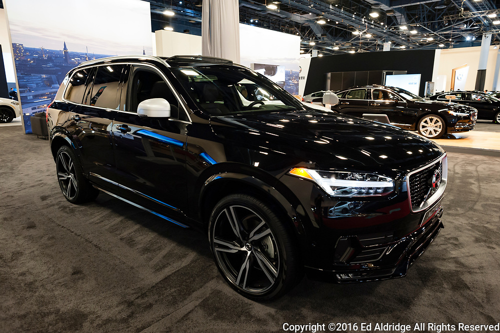 Miami, USA - September 10, 2016: Volvo XC90 T6 AWD R-Design SUV on display during the Miami International Auto Show at the Miami Beach Convention Center.