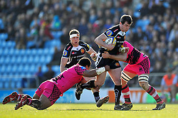Ian Whitten of Exeter Chiefs takes on the London Welsh defence - Photo mandatory by-line: Patrick Khachfe/JMP - Mobile: 07966 386802 07/03/2015 - SPORT - RUGBY UNION - Exeter - Sandy Park - Exeter Chiefs v London Welsh - Aviva Premiership