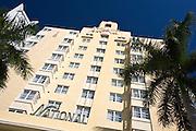 Art deco architecture at The National Hotel in Collins Avenue,  Miami South Beach, Florida USA
