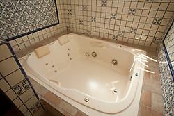 North America, Mexico, Guanajuato State, Guanajuato, Hotel Antiguo Vapor, jetted tub. PR