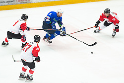 URBAS Jan (SLO) vs YANADORI Shinya (JAP) during OI pre-qualifications of Group G between Slovenia men's national ice hockey team and Japan men's national ice hockey team, on February 9, 2020 in Ice Arena Podmezakla, Jesenice, Slovenia. Photo by Peter Podobnik / Sportida