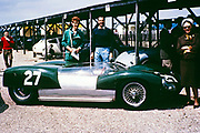 Goodwood BARC race 18th May 1963, Lotus-Climax racing car John Coundley Racing Partnership driver standing Bill de Selincourt