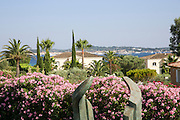 Summer vacation home on the French Riviera, Sainte-Maxime, France . The view of the Mediterranean sea.