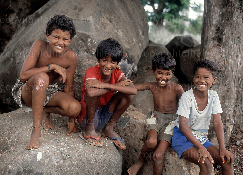 Boys in Mauritius. Photograph by Jayne Fincher