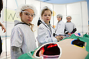 27/11/2016 REPRO FREE:   <br /> Aiste Pivarauskaite (4) from Galway and Toby Leach-Marshall (5) from Oranmore enjoying the Medtronic Exhibition inNUI Galway as part of the Galway Science & Technology Festival.enjoy the Medtronic Exhibition inNUI Galway as part of the Galway Science & Technology Festival.  <br /> Photo: Andrew Downes, Xposure.