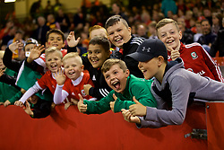 CARDIFF, WALES - Thursday, October 11, 2018: Wales supporters during the International Friendly match between Wales and Spain at the Principality Stadium. (Pic by Laura Malkin/Propaganda)