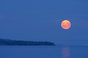 Moon over Lake Superior <br />Rossport<br />Ontario<br />Canada