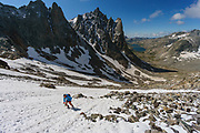 Luke Nelson on a long adventure trail run exploring the northern Wind River range, and the Titcomb Basin, Wyoming