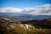 Mountain landscape close to The Church of Agio Pnevma - south of Strovles on the Greek island of Crete.