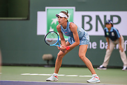 March 7, 2019 - Indian Wells, CA, U.S. - INDIAN WELLS, CA - MARCH 07: Ajla Tomljanovic (AUS) prepares to return serve during the BNP Paribas Open on March 7, 2019 at Indian Wells Tennis Garden in Indian Wells, CA. (Photo by George Walker/Icon Sportswire) (Credit Image: © George Walker/Icon SMI via ZUMA Press)