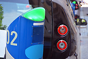 Electric urban charging station for vehicles in car sharing.