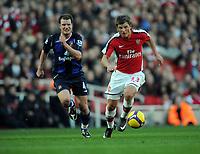 Andrey Arshavin<br /> Arsenal 2008/09<br /> Teemu Tainio Sunderland<br /> Arsenal V Sunderland 21/02/09<br /> The Premier League<br /> Photo Robin Parker Fotosports International