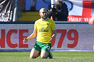 Norwich City forward Teemu Pukki (22)  pleads for a penalty during the EFL Sky Bet Championship match between Wycombe Wanderers and Norwich City at Adams Park, High Wycombe, England on 28 February 2021.