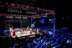 General View as Darren Hamilton (gold shorts, red trim) beats  Mikheil Avakyan (black shorts, gold trim) by majority decision in a Super Lightweight bout on the undercard - Photo mandatory by-line: Rogan Thomson/JMP - 07966 386802 - 13/06/2015 - SPORT - BOXING - Bristol, England - Action Indoor Sports Arena - Lee Haskins vs Ryosuke Iwasa - Interim IBF World Bantamweight Title Fight - UNDERCARD.