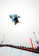 12/20/08 11:24:44 AM -- Breckenridge, CO, U.S.A. -- Snowboarder Danny Kass of Mammoth Lakes, Ca. blasts out of the superpipe at the inaugural Winter Dew Tour in Breckenridge, Co. on December 20, 2008. Kass finished 8th in the event with a score of 79. The four-day competition is the first of three stops on the tour that features freeskiing and snowboarding..(Photo by Marc Piscotty / © 2008)