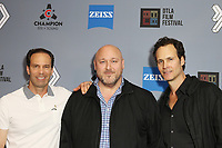 """Michael A. Pierce, Will Sasso and Randall Batinkoff attend DTLA Film Festival """"INSIDE GAME"""" Los Angeles Premiere held at Regal LA Live on October 24, 2019 in Los Angeles, California, United States (Photo by © Michael Tran/VipEventPhotography.com"""