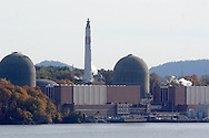 Buchanan, NY - A view of the Indian Point nuclear power plant on the Hudson River. Nov. 2, 2008. The plan is owned by Entergy