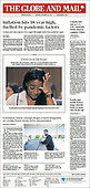 September 16, 2021 - CANADA: Front-page: Today's Newspapers In Canada