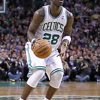 04 March 2012: Boston Celtics small forward Mickael Pietrus (28) eyes the basket during the Boston Celtics 115-111 (OT) victory over the New York Knicks at the TD Garden, Boston, Massachusetts, USA.