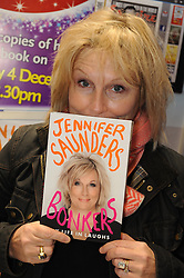"""© Licensed to London News Pictures. 04/12/2013<br /> Jennifer Saunders at W H Smiths,Bluewater in Kent today (04.12.2013) signing her new book  """"My Life In Laughs""""<br />  Photo credit :Grant Falvey/LNP"""