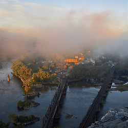 Foggy Sunrise at Harpers Ferry