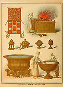 Holy Vestments and Utensils from ' The Doré family Bible ' containing the Old and New Testaments, The Apocrypha Embellished with Fine Full-Page Engravings, Illustrations and the Dore Bible Gallery. Published in Philadelphia by William T. Amies in 1883