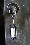 Key to the wine cellar, cave. Domaine Charles Joguet, Clos de la Dioterie, Chinon, Loire, France