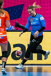 Rinka Duijndam of Netherlands in action during the Women's EHF Euro 2020 match between Netherlands and Germany at Sydbank Arena on december 14, 2020 in Kolding, Denmark (Photo by RHF Agency/Ronald Hoogendoorn)