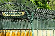 France, Paris, Porte Dauphine metro station