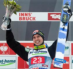 04.01.2014, Bergisel Schanze, Innsbruck, AUT, FIS Ski Sprung Weltcup, 62. Vierschanzentournee, Bewerb, im Bild Podium: Sieger Anssi Koivuranta (FIN) // Winner Anssi Koivuranta (FIN) Podium after Competition of 62nd Four Hills Tournament of FIS Ski Jumping World Cup at the Bergisel Schanze, Innsbruck, Austria on 2014/01/04. EXPA Pictures © 2014, PhotoCredit: EXPA/ JFK