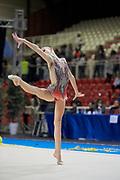 Serena Ottaviani from Fabriano team during the Italian Rhythmic Gymnastics Championship in Padova, 25 November 2017.