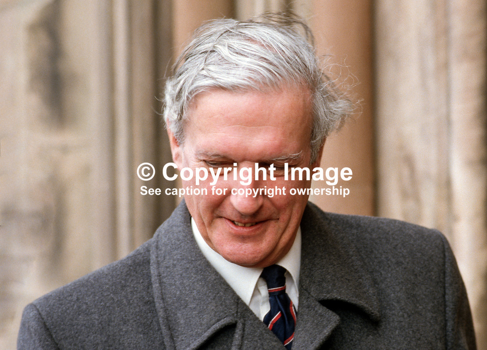 Bristow Stevenson, solicitor, Londonderry, N Ireland, 19860407BS2.<br /> <br /> Copyright Image from Victor Patterson, Belfast, UK<br /> <br /> t: +44 28 9066 1296 (from Rep of Ireland 048 9066 1296)<br /> m: +44 7802 353836<br /> e: victorpattersonbelfast@gmail.com<br /> <br /> www.images4media.com<br /> <br /> Please see my full Terms and Conditions of Use at https://www.images4media.com/p/terms-conditions - it is IMPORTANT that you familiarise yourself with them.<br /> <br /> Images used online incur an additional cost. This cost should be agreed in writing in advance. Online images must be visibly watermarked i.e. © Victor Patterson or that of the named photographer within the body of the image. The original metadata must not be deleted from images used online.<br /> <br /> This image is only available for the use of the download recipient i.e. television station, newspaper, magazine, book publisher, etc, and must not be passed on to a third party. It is also downloaded on condition that each and every usage is notified within 7 days to victorpattersonbelfast@gmail.com.<br /> <br /> The right of Victor Patterson (or the named photographer) to be identified as the author is asserted in accordance with The Copyright Designs And Patents Act (1988). All moral rights are asserted.