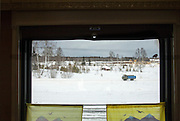 Rural scene, from BAM train. Baikal-Amur Mainline), Siberia. Russia