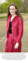 Debutante SARAH WOOLDRIDGE at a fashion photo call in London on 15th April 2002.OYX 99