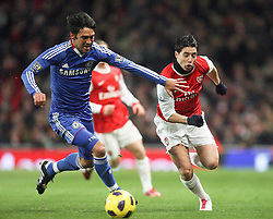 27.12.2010, Emirates Stadium, London, ENG, PL, FC Arsenal vs Chelsea FC, im Bild // Arsenal's Samir Nasri and Paulo Ferreira of Chelsea   in  the match Arsenal fc vs Chelsea fc for the EPL at the Emirates Stadium in London on 27/12/2010, EXPA Pictures © 2010, PhotoCredit: EXPA/ IPS/ M. Pozzetti *** ATTENTION *** UK AND FRANCE OUT!