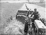 01/06/1955.06/01/1955.01 June 1955.Demonstration of Saville  silage equipment at Ardee Co. Louth. Special for McConnells.<br /> Silage in bales cut and baled and built into the pit using McCormack International equipment as sold by Taaffe Machinery Ardee
