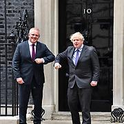 PM Boris Johnson and Scott Morrison attend 10 Downing street