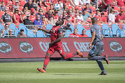 August 12, 2018 - Toronto, Ontario, Canada - MLS Game at BMO Field 2-3 New York City. IN PICTURE: JOZY ALTIDORE (Credit Image: © Angel Marchini via ZUMA Wire)