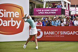 October 26, 2017 - Kuala Lumpur, Malaysia - Michelle Wie of USA during day one of the Sime Darby LPGA Malaysia at TPC Kuala Lumpur on October 26, 2017 in Kuala Lumpur, Malaysia. (Credit Image: © Chris Jung/NurPhoto via ZUMA Press)
