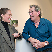 Bonnie Boyle, founding member of Fishbowl, with Alan McMahon, administrator of FIshbowl