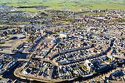 Nederland, Friesland, Sneek, 28-02-2016; overzicht binnestad Sneek met Waterpoort, Martinikerk en Martinuskerk (voorgrond).<br /> Sneek, small frisian town.<br /> <br /> <br /> luchtfoto (toeslag op standard tarieven);<br /> aerial photo (additional fee required);<br /> copyright foto/photo Siebe Swart