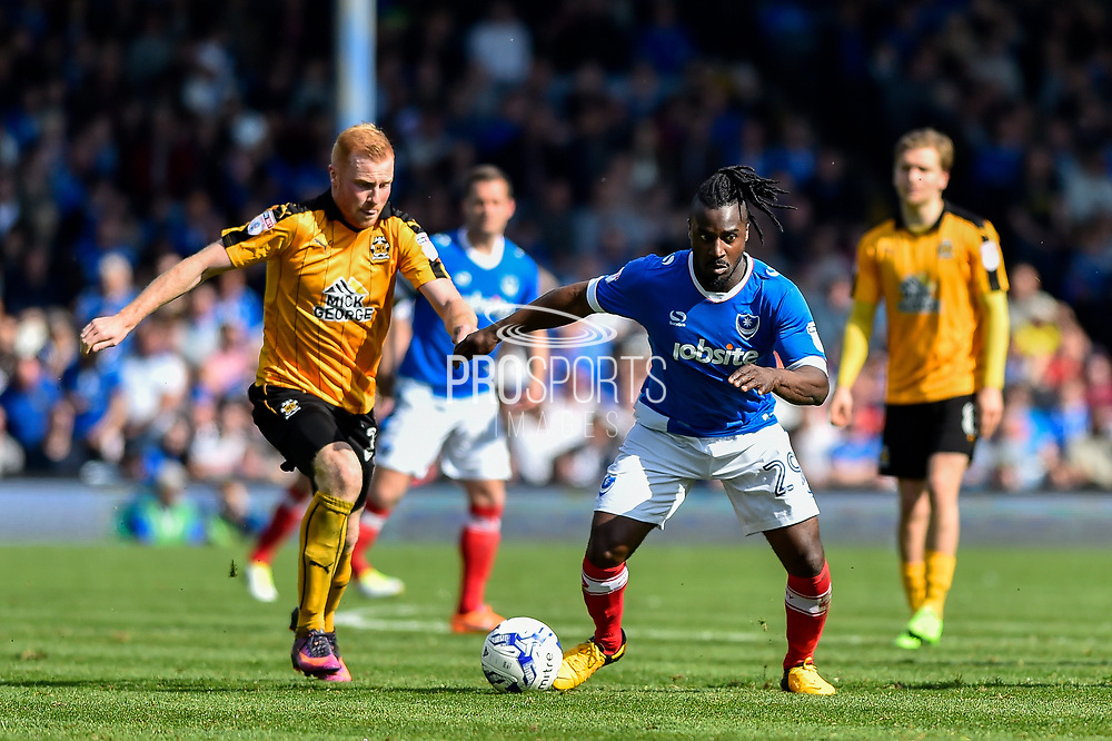 Portsmouth Midfielder, Stanley Aborah (29) during the EFL Sky Bet League 2 match between Portsmouth and Cambridge United at Fratton Park, Portsmouth, England on 22 April 2017. Photo by Adam Rivers.