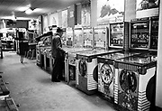 Y-580306-29.  Seaside arcades March 6, 1958. Seaside Judge Harry Ohlman Jr. embezzled $7000 playing pinball. March 6, 1958