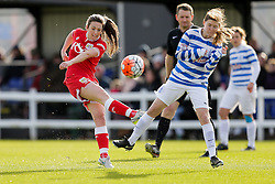 Chloe Arthur of Bristol City Women shoots - Mandatory byline: Rogan Thomson/JMP - 14/02/2016 - FOOTBALL - Stoke Gifford Stadium - Bristol, England - Bristol City Women v Queens Park Rangers Ladies - SSE Women's FA Cup Third Round Proper.