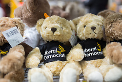 © Licensed to London News Pictures . 14/03/2015 . Liverpool , UK . Liberal Democrats stuffed bears for sale at the exhibition at the conference . The Liberal Democrat Party Conference at the Arena and Conference Centre in Liverpool . Photo credit : Joel Goodman/LNP