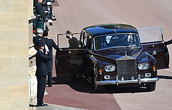 Lady Louise Windsor arriving outside St George's Chapel, Windsor Castle, Berkshire, ahead of the funeral of the Duke of Edinburgh. Picture date: Saturday April 17, 2021.