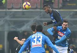 Italy, Bergamo -  December 24, 2018.Soccer - Football  Inter 1-0 win over Napoli .Lautaro Martinez of Inter and Fabian Ruiz during the italian serie a soccer match (Credit Image: © Ciro De Luca/Ropi via ZUMA Press)