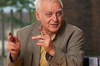 16 DEC 2004, BERLIN/GERMANY:<br /> Adolf Muschg, Schriftsteller und Praesident der Akademie der Kuenste, Berlin, waehrend einem Interview, Akademie der Kuenste<br /> IMAGE: 20041216-03-027<br /> KEYWORDS: Präsident Akademie der Künste