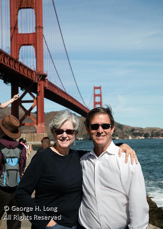 Courtney Blitch and George Long near Golden Gate Bridge; San Francisco, California