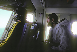 Geoff Carroll In Helicopter During North Slope Borough Rescue From Broken Off Floating Ice Sheet